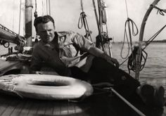 James Cagney lounging aboard Martha (again) in 1940.