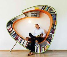Read and Relax in the Sculptural Bookworm Chair | Designs & Ideas on Dornob