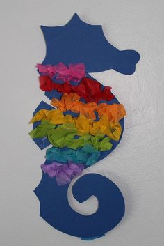 seahorse decorations- also great for kids to help with