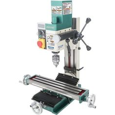Introducing the newest member of the Grizzly Mill/Drill lineup. This powerhouse comes equipped with a high-torque DC motor, variable-speed controls, a high/low quick-change gearbox, digital readout Benchtop Milling Machine, Head Angles, Technical Documentation, Gear Drive, Key Storage, Homemade Tools, Diy Tools, Thing 1, Drill Press