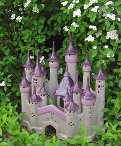 Enchanted Fairy Castle Handbuilt Ceramic Art Fairy by ClaySoul
