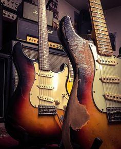 Electric Guitar And Amp, Vintage Electric Guitars, Vintage Guitars, Fender Stratocaster, Vintage Les Paul, Beautiful Guitars, Music Store, Custom Guitars, Gibson Les Paul