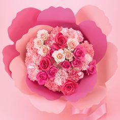 日比谷花壇 カーネーションの形をした花束「ペタロ・カーネーション ジュール アンボヌール」