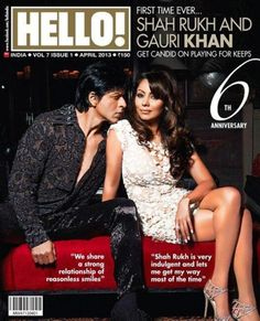 Bollywood Baadshah posed with his hot wife on cover page of Hello magazine,for the April 2013 edition. Even after 21 years of marriage SRK