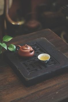 A beautiful still life of a Chinese tea pot and cup with freshly brewed tea. Tea Culture, Tea Tray, Chinese Tea, Best Tea, My Tea, Tea Ceremony, Cacao, Tea Recipes, Matcha