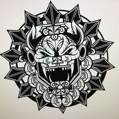Image result for aztec art tattoo