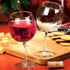 Tipsy Wine Glasses Goblets with Slightly Bent Stems $54.95