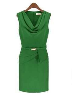 Elegant Cowl Neck Chiffon Pure Bodycon-dress Bodycon Dress from fashionmia.com
