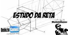Geometria Descritiva - Projeção e Determinação de uma Reta. Pertinência de um Ponto a Reta.