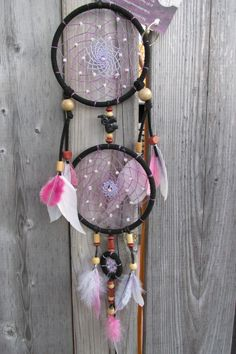 Black and purple dreamcatcher, Wall hanging dreamcatcher, Wall decor, Native American Dream Catcher, Christmas gift by FineBubbles on Etsy