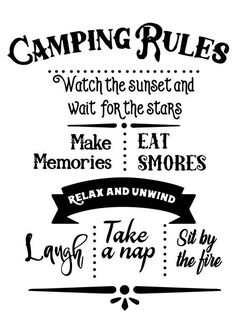 World Camping. Camping Advice For Those Who Love The Outdoors. Camping is a great choice for your next vacation if you want to really enjoy yourself. To get the most from your next camping trip, check out the tips in t Camping Hacks, Top Camping, Camping Rules, Camping Signs, Camping Checklist, Camping Crafts, Camping Essentials, Camping Life, Family Camping