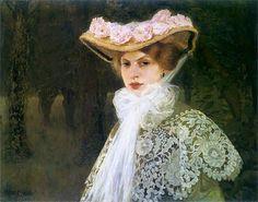 Edward Okun : Portrait of the artist's wife 1907