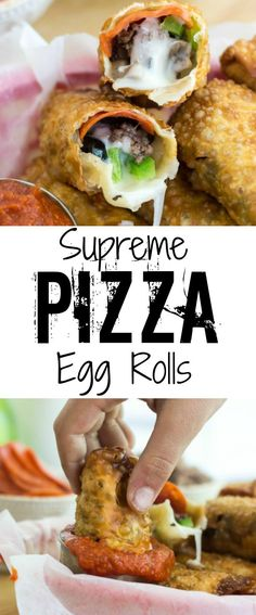 Switch up the normal pizza routine and try these delicious, crunchy and flavorful Supreme Pizza Egg Rolls!