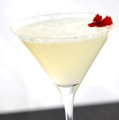 Lemon Drop Martini:  2 parts Citron Vodka (we used Grey Goose)   3/4 part Cointreau   1 part freshly squeezed lemon juice   3/4 part simple syrup