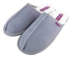 Dunlop - Ladies Fleece Lined Mules Suede Slippers – Emmy Jane Boutique Wet Brush, Tan Shoes, Slip On Mules, Dress Making, Black And Grey, Slippers, Sweet Dreams, Lady, Socks