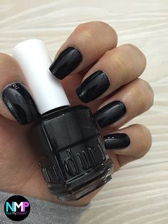 Black Nail Polish, Nail Polish Colors, Pretty Nails, Swatch, Nail Art, Cosmetics, Tips, Fashion, Moda