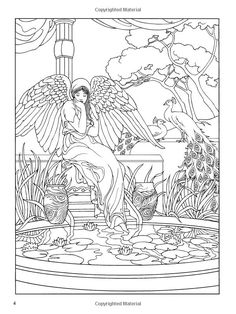 15 Pics of Dover Angel Coloring Pages - Marty Noble Adult Coloring ...