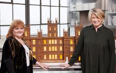 A Gingerbread Abbey for Mrs. Patmore, thanks to Martha Stewart