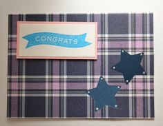 Congrats Congratulations Card Purple Pink by CardsbyJeweleighaB ON ETSY.