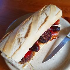a rare irish-style Jumbo breakfast roll!'used to have one of these every second morning back in Ireland. It's a wonder that I'm still alive. Irish Recipes, Cheesesteak, I Love Food, Rolls, Food And Drink, Cooking, Essentials, Breakfast, Ethnic Recipes