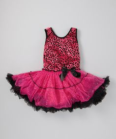 Another great find on #zulily! Hot Pink Leopard Ruffle Skirted Dress- Infant, Toddler & Girls #zulilyfinds