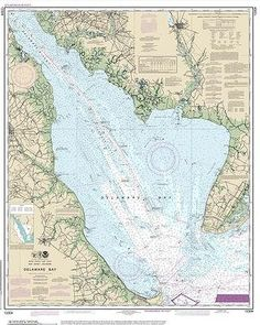Delaware Bay Nautical Chart printed on sailcloth for home décor wall art print. Unique Textile Printing http://www.amazon.com/dp/B00W80NW8M/ref=cm_sw_r_pi_dp_kdwmvb104985A