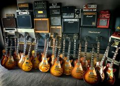 Gibson Les Paul Collection....I'd like to know who gets to change the strings.