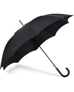 Fox Umbrellas Hardwood Automatic Umbrella Black  i gruppen Accessoarer / Paraplyn hos Care of Carl (13074810)