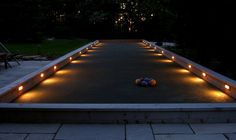 Bocce ball court with landscape lighting in Cedarburg Wisconsin