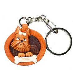 Genuine Leather Yorkshire Terrier Leather Dog plate Keychain is made by skillful craftsmen of VANCA CRAFT in Japan. Yorkshire Terrier, Maltese, How To Make Leather, Leather Keyring, Plate, Leather Accessories, Leather Craft, Handmade Leather, Leather Working
