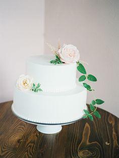 simple wedding cake - photo by Brooke Schultz Photography http://ruffledblog.com/handmade-utah-wedding-at-a-pink-cottage
