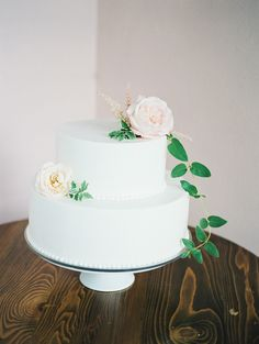 simple wedding cake - photo by Brooke Schultz Photography http://ruffledblog.com/handmade-utah-wedding-at-a-pink-cottage
