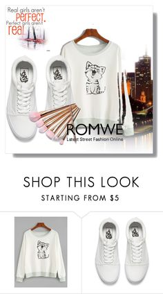 """Romwe"" by tropico-and ❤ liked on Polyvore featuring Vans"