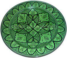 Moroccan Green Ceramic Plates