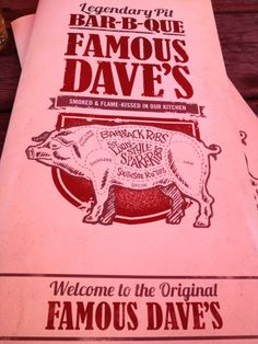 The first and original Famous Dave's BBQ is outside of Hayward on crystal clear Round Lake. Bring your appetite!