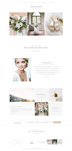 Inspired by our recent visit to the Amalfi Coast, this drag + drop Showit website template is filled editorial-inspired layouts and plenty of space for large images. It features two alternate blog designs as well as two single post page designs. | Via Davey & Krista