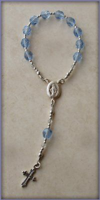 Sterling Silver Baby Rosary for Boy First Rosary for Baptism Gift comes in Gift Box:Amazon:Jewelry