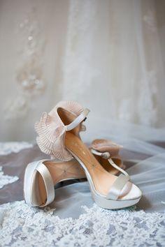 2014 ruffled chiffon beach wedding sandals, platform wedding sandals.