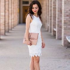 The search for the perfect LWD {little white dress} is over. This one fits like a dream and is affordable!