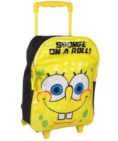 Nickelodeon SpongeBob 16 inch Rolling Backpack (Yellow) Nickelodeon. $17.89. Save 19% Off!