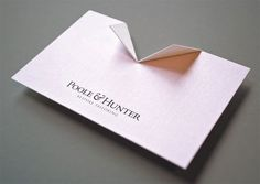 Poole & Hunter business card: Greg Healy via David Airey Guerilla Marketing, Design Thinking, Packaging Design, Branding Design, Business Cards Online, Name Card Design, Bussiness Card, Envelopes, Name Cards