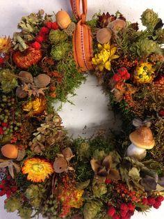 Kränze - Herbstlicher Türkranz aus natürlicher Deko - ein Designerstück von…