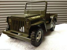 VTG 1964 Tonka #251 In Catalog ARMY Jeep  GR 2-2431 CJ2 Style #Tonka #WillyOverlandJeep