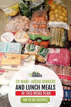 Have you ever wished you could make enough lunches and dinners to last for weeks, so you can just let it cook, while you enjoy time with your family each day? Each of these meals feeds 4 people Budget Freezer Meals, Frugal Meals, Budget Recipes, Gluten Free Meal Plan, Budget Meal Planning, Inexpensive Meals, Healthy Dishes, Lunch Recipes, Lunch Meals