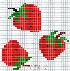 patrones con moldes de frutas en punto de cruz - Buscar con Google