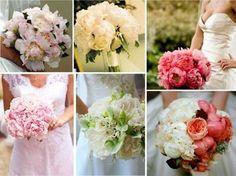 Ramos de novia con peonías: Fotos de las propuestas - Modelos de bouquet de novias con peonías de diferentes colores