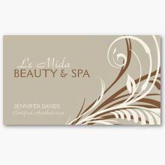 This bold and elegant Floral Swirls business card, makes a perfect profile card for hair stylists, makeup artists, boutique owners, nail salons, day spa resorts, cosmetologist, aesthetician and other professions in the beauty industry.