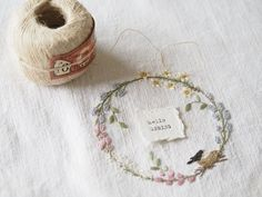 So cute from the Stitchery Cushion Embroidery, Basic Embroidery Stitches, Hand Embroidery Designs, Ribbon Embroidery, Cross Stitch Embroidery, Embroidery Patterns, Linen Stitch, Quilt Stitching, Couture