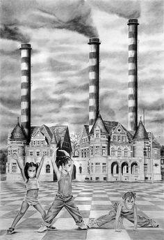 Superflua armonía  Técnica: Carbón. Año de realización: 2006 http://obes.es/superflua-armonia/