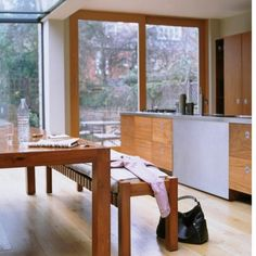 warm wooden dining room